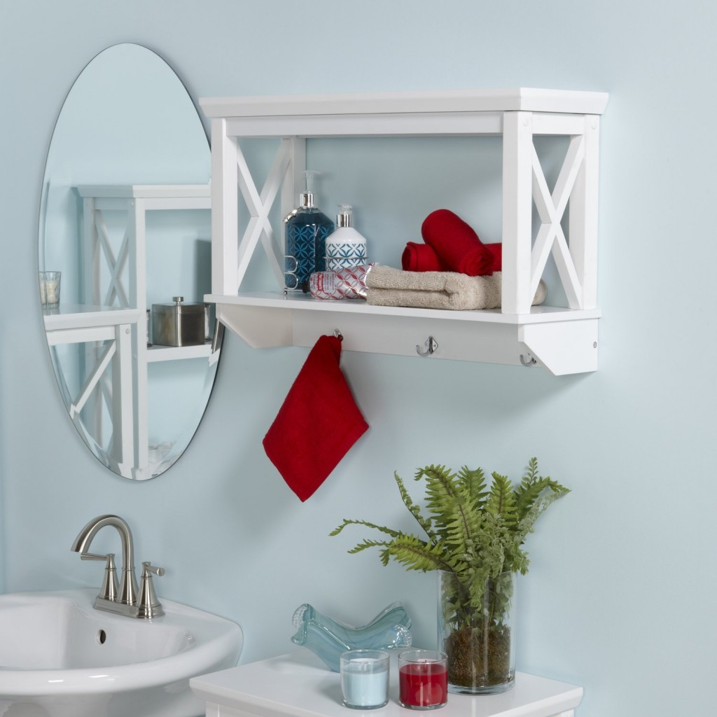 X Frame Bathroom Wall Shelf