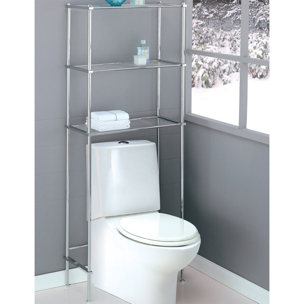 11 best bathroom ladder shelves for toilet storage reviews for Best bathroom storage