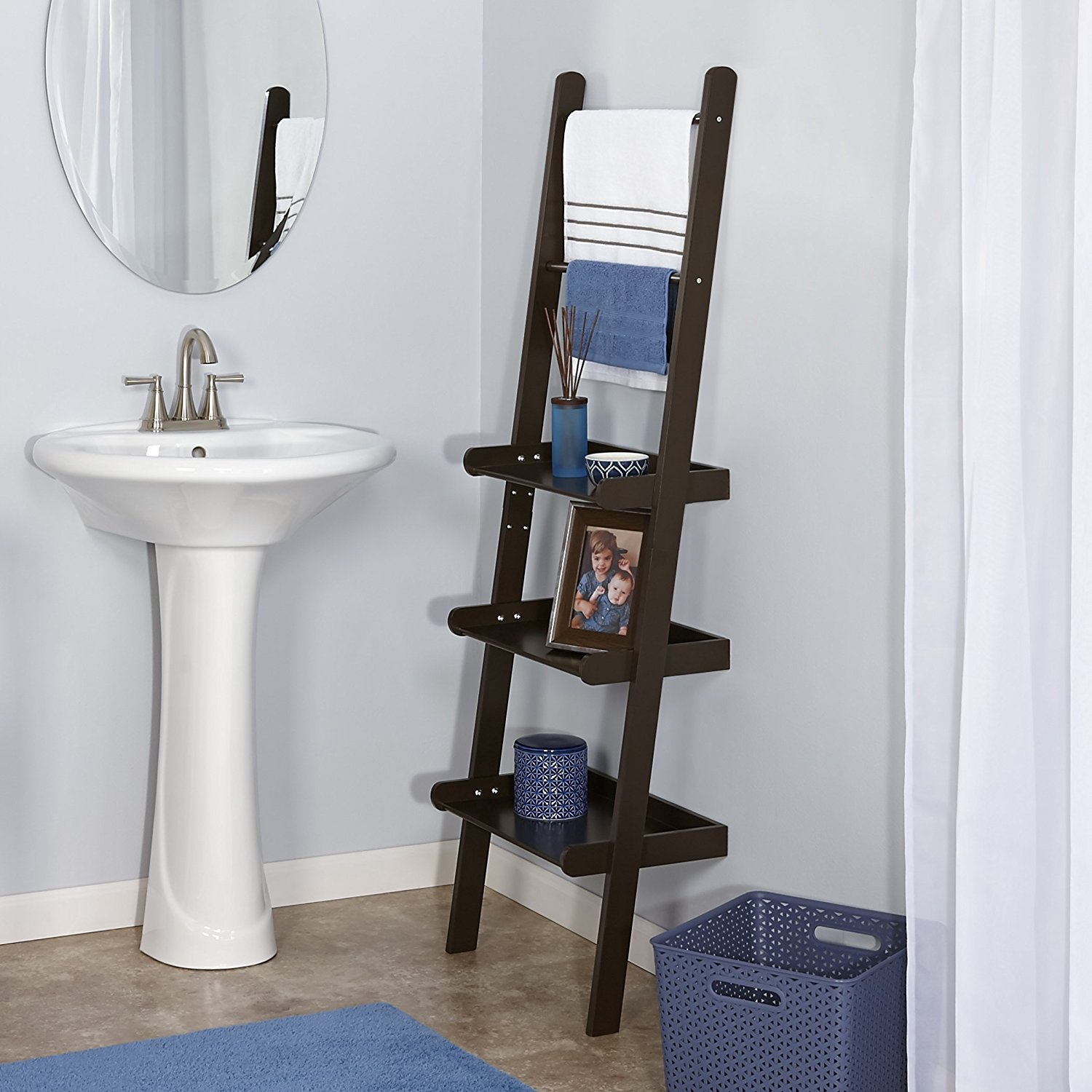 Terrific 11 Best Bathroom Ladder Shelves For Toilet Storage Reviews Beutiful Home Inspiration Truamahrainfo
