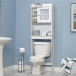 sauder-white-bathroom-ladder-shelf