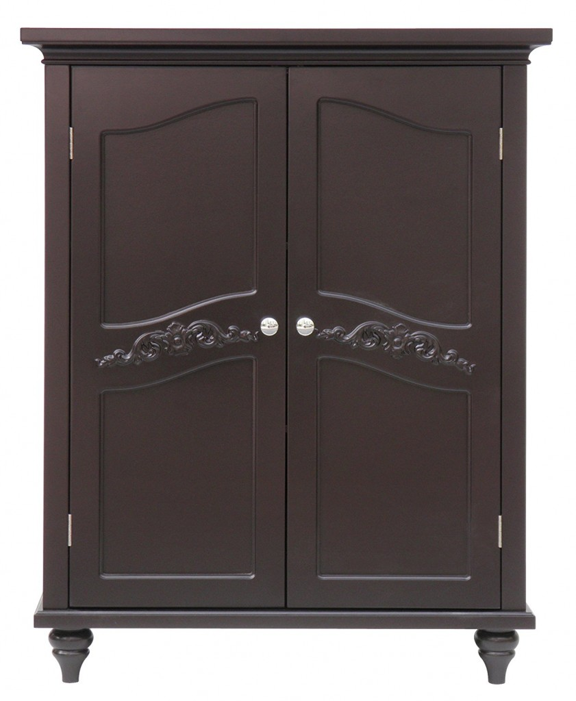 2 door bathroom floor cabinet