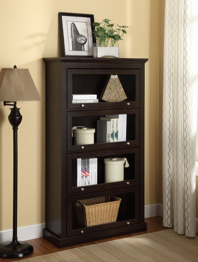 4 Shelf Barrister Bookcase With Glassdoor