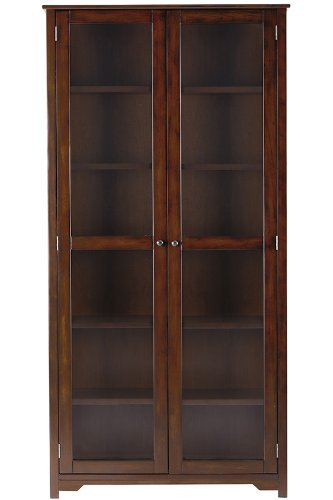 72 inch Bookcase With Glass Doors