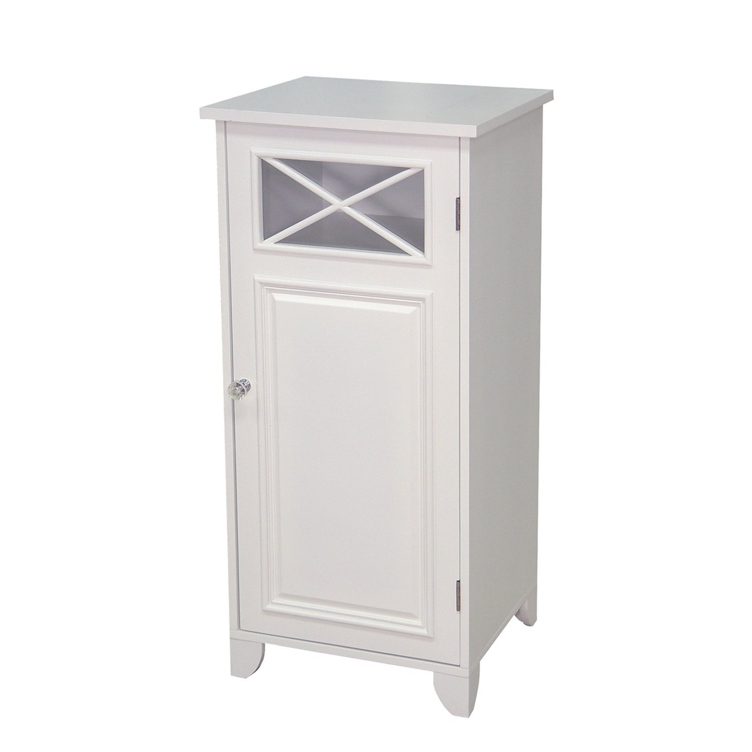 elegant home fashions dawson bathroom floor cabinet with single door