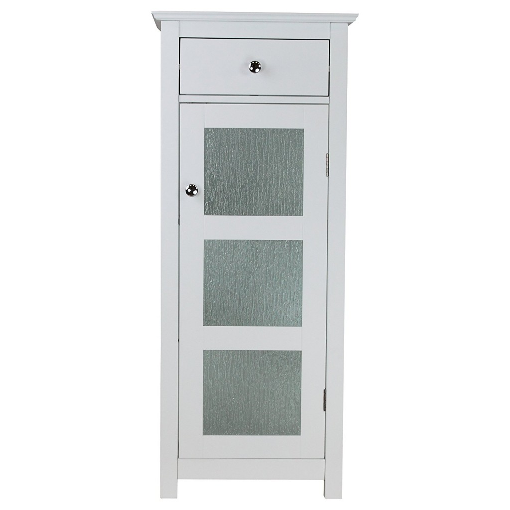 Bathroom file cabinet with door and drawer