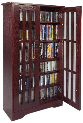 Bookshelf with glassdoor