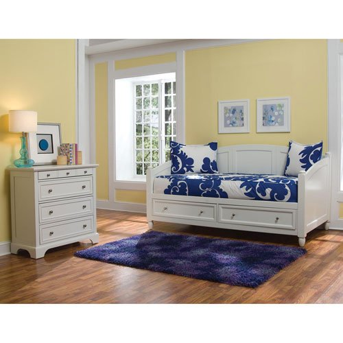 Home Styles 5530-8541 Naples Storage Daybed and Chest, White Finish Bookcase