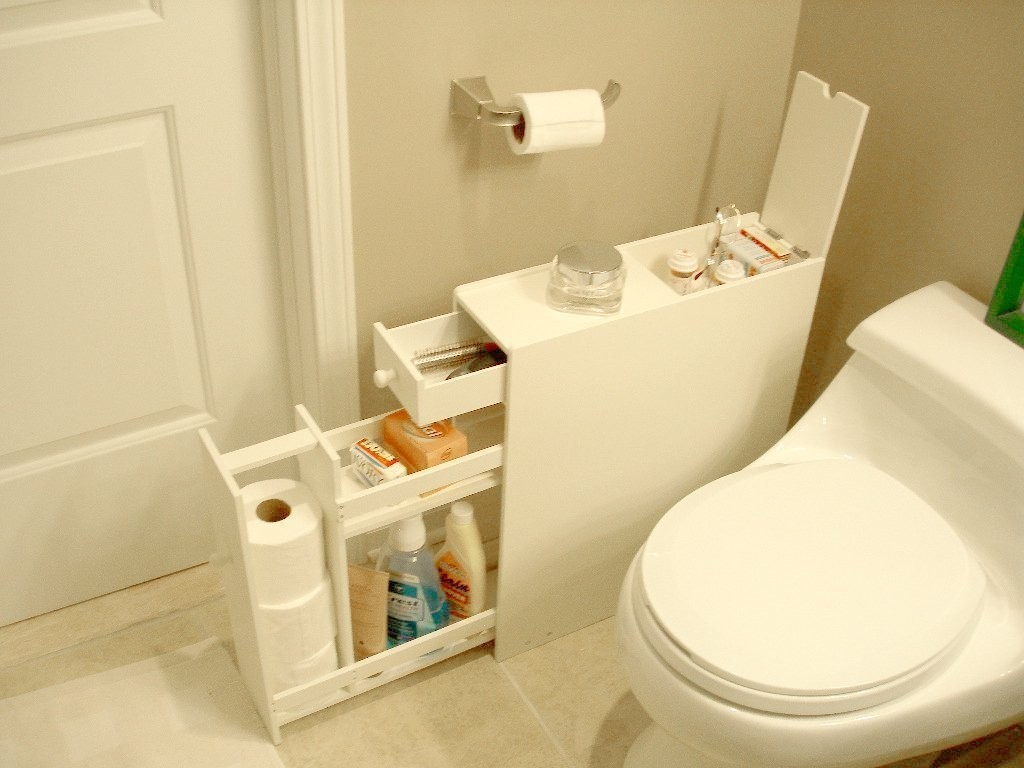 Narrow White Bathroom Floor Cabinet Bathroom Design Ideas