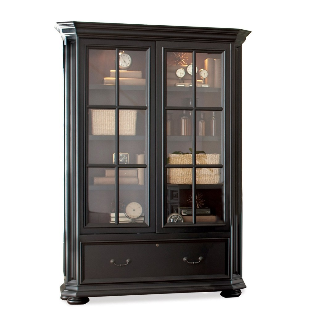 Sliding Glass Door Bookcase Cabinet