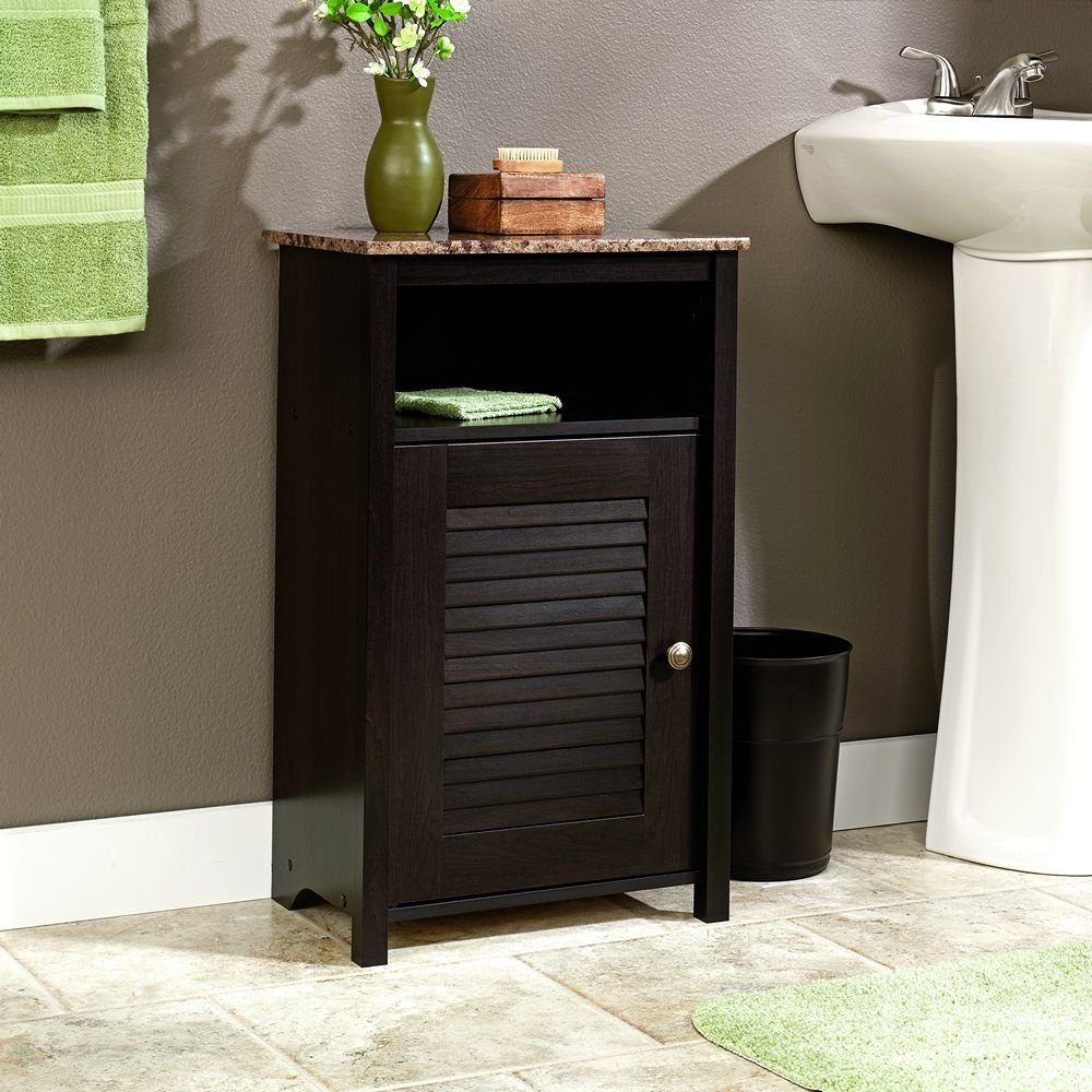 12 awesome bathroom floor cabinet with doors review for Bathroom storage cabinets floor