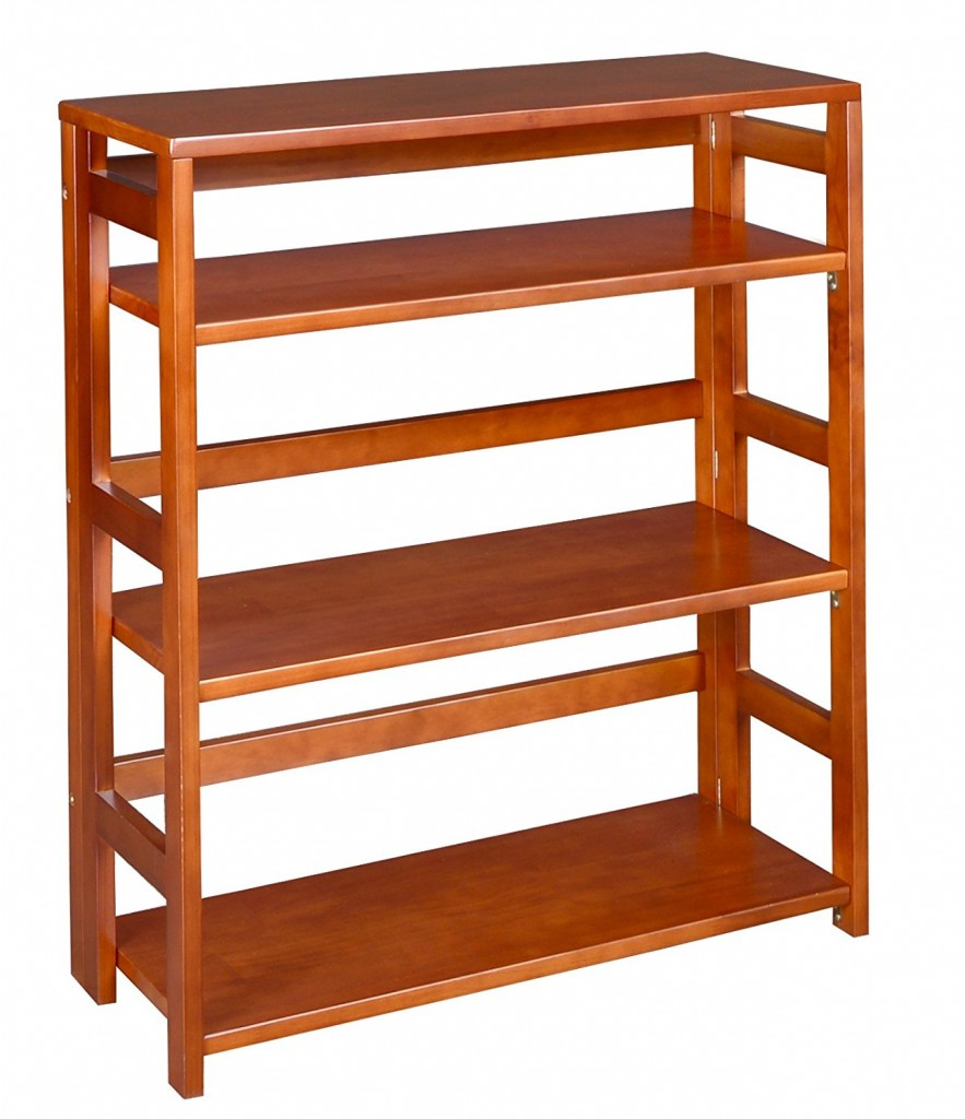 34 inch high folding bookcase bookshelf