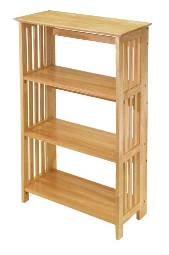 4 tier foldable bookcase