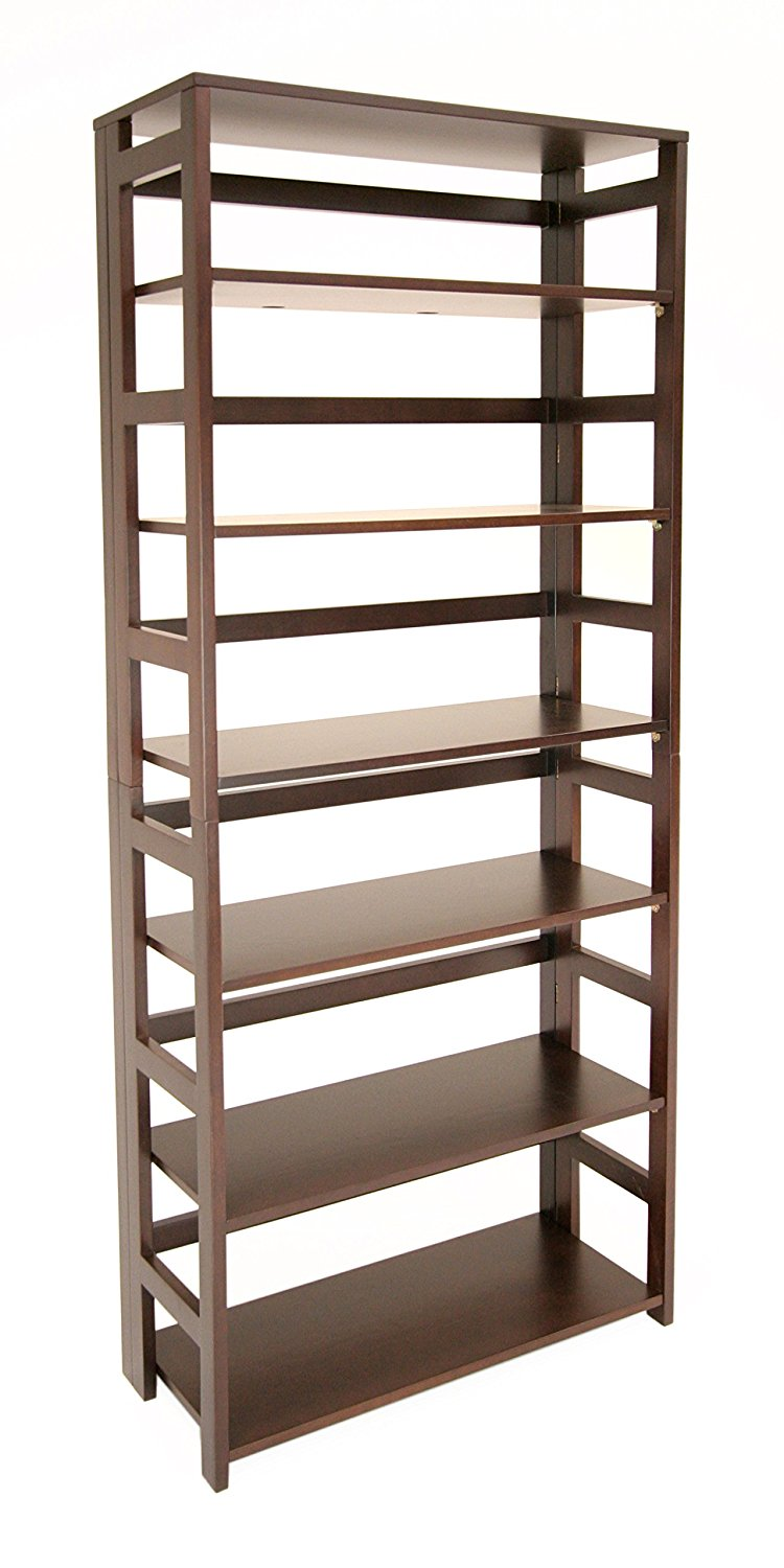 67 inch high folding bookshelf - Folding Bookshelves