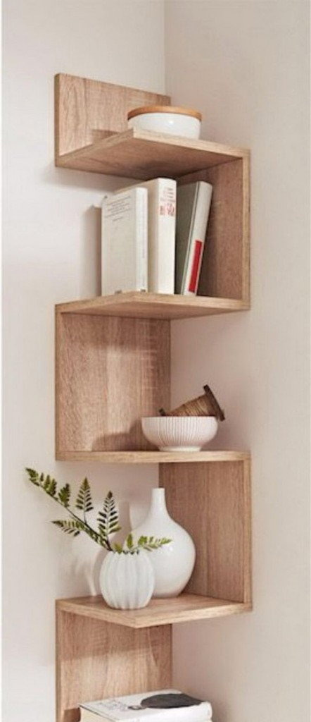 8 diy corner shelf decorating ideas to beautify your corners for Shelf decor items