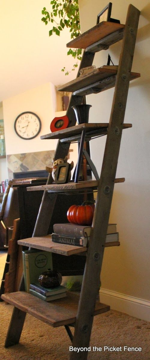 Best Study Room: 7 Best Examples Of Creative DIY Ladder Shelves