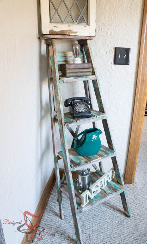 7 Best Examples Of Creative Diy Ladder Shelves