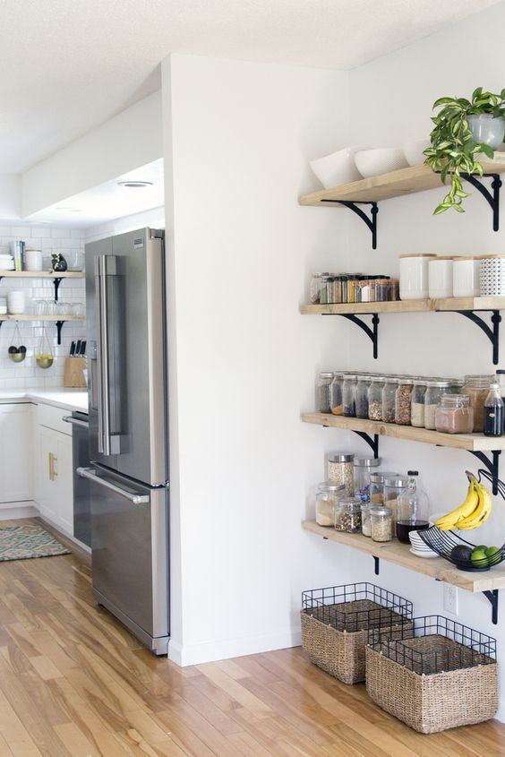 2) Let The Kitchen Corner Speak Up. Corner Shelf Idea