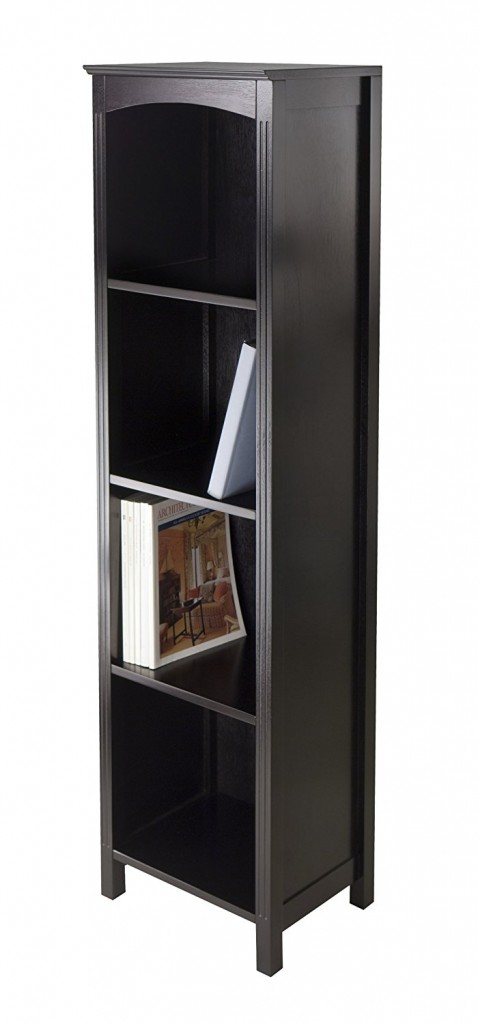 Narrow Wooden bookcase