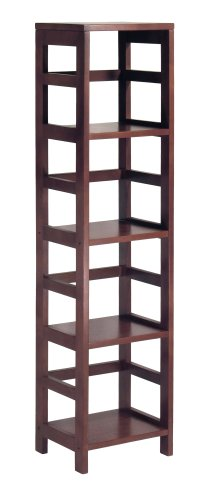 Wood narrow bookcase