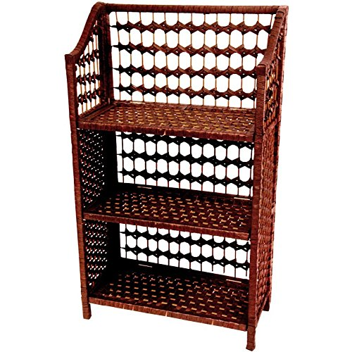 rattan style low bookcase