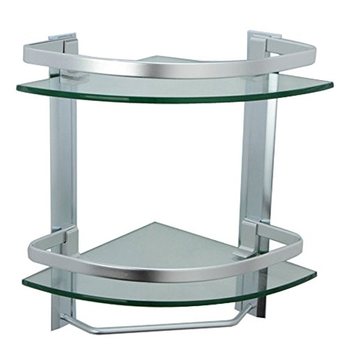Review of glass based bathroom corner shelves - Bathroom glass corner shelves shower ...
