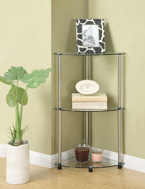 glass based bathroom corner shelves