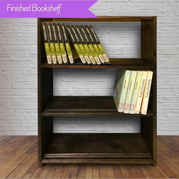 diy bookshelf and storage shelf using reclaimed wood