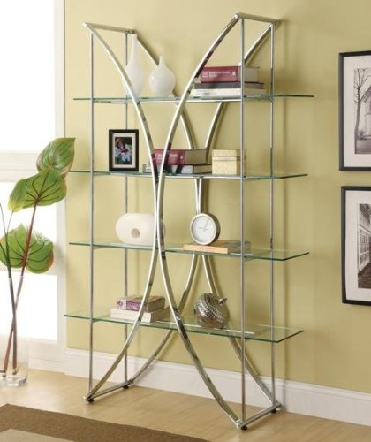 glass bookshelves