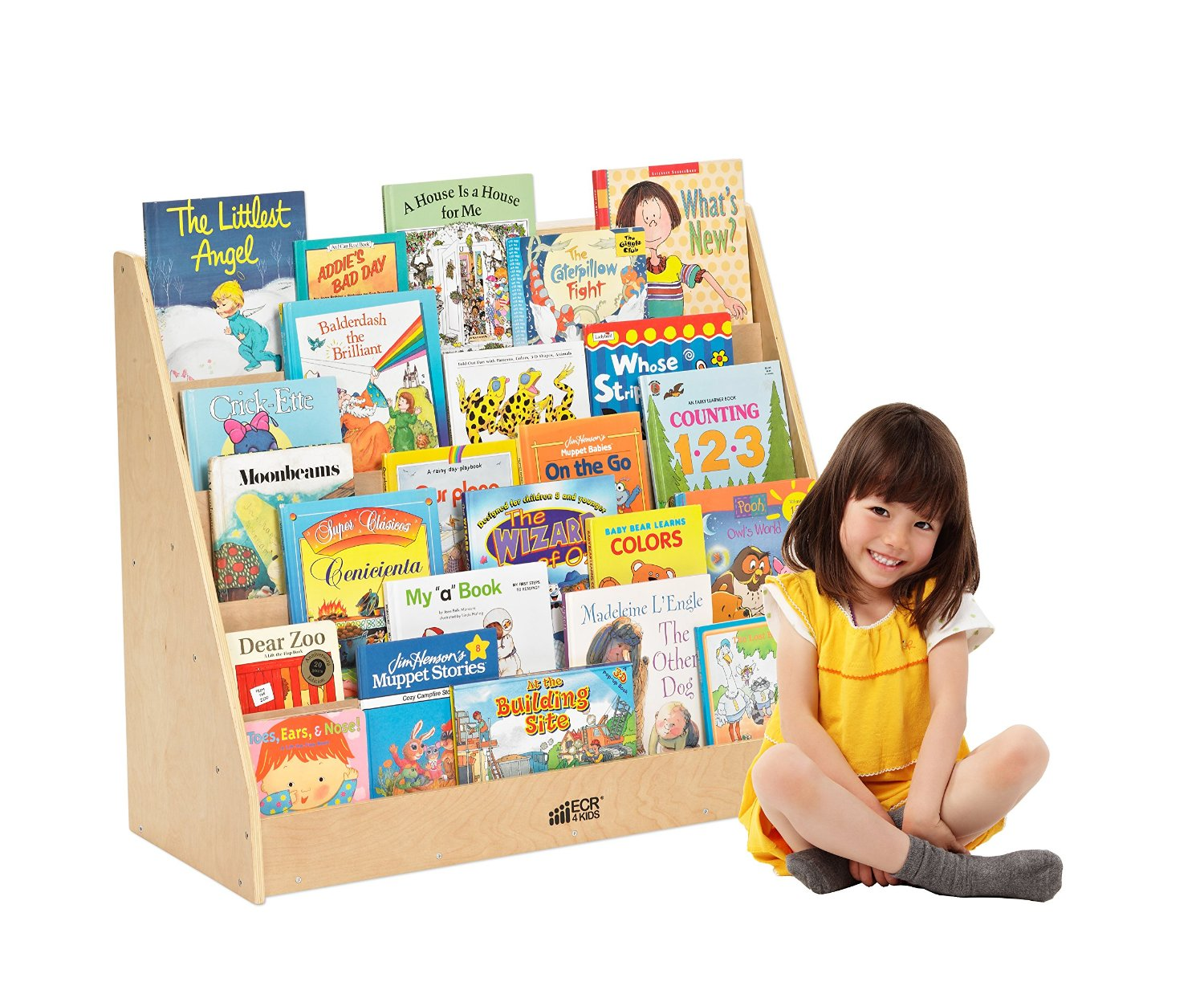 single sided book display rack - Toddler Bookshelves