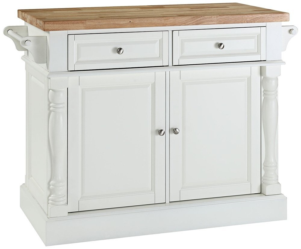 this kitchen island cabinet is built for a prolonged existence it is ideal for carrying out your food prep and its fully functional doors and drawers on
