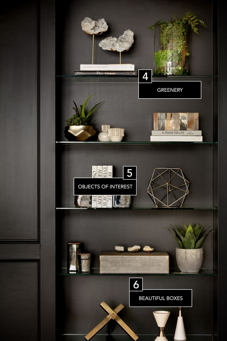 Bookshelf arrangement layout