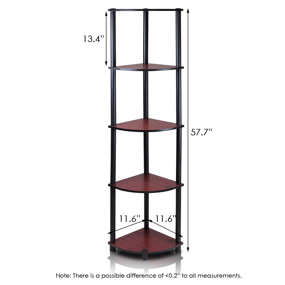 corner shelving units 5 tier multi purpose corner shelving unit cherry 13997
