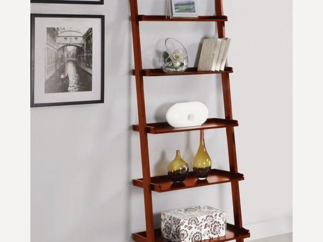 Cherry ladder shelving