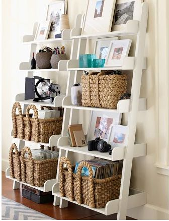 8 diy ladder shelf decorating ideas to style your home decor. Black Bedroom Furniture Sets. Home Design Ideas