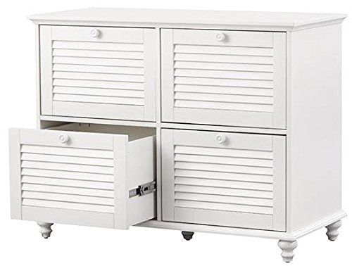 4 Drawer Lateral Type White File Cart