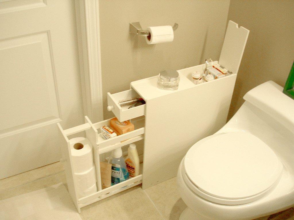 Narrow Bathroom Floor Cabinet White