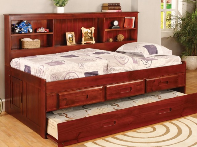 Twin Daybed Bookcase with 3 Drawers and Trundle, Desk, Hutch, Chair and Bookshelf