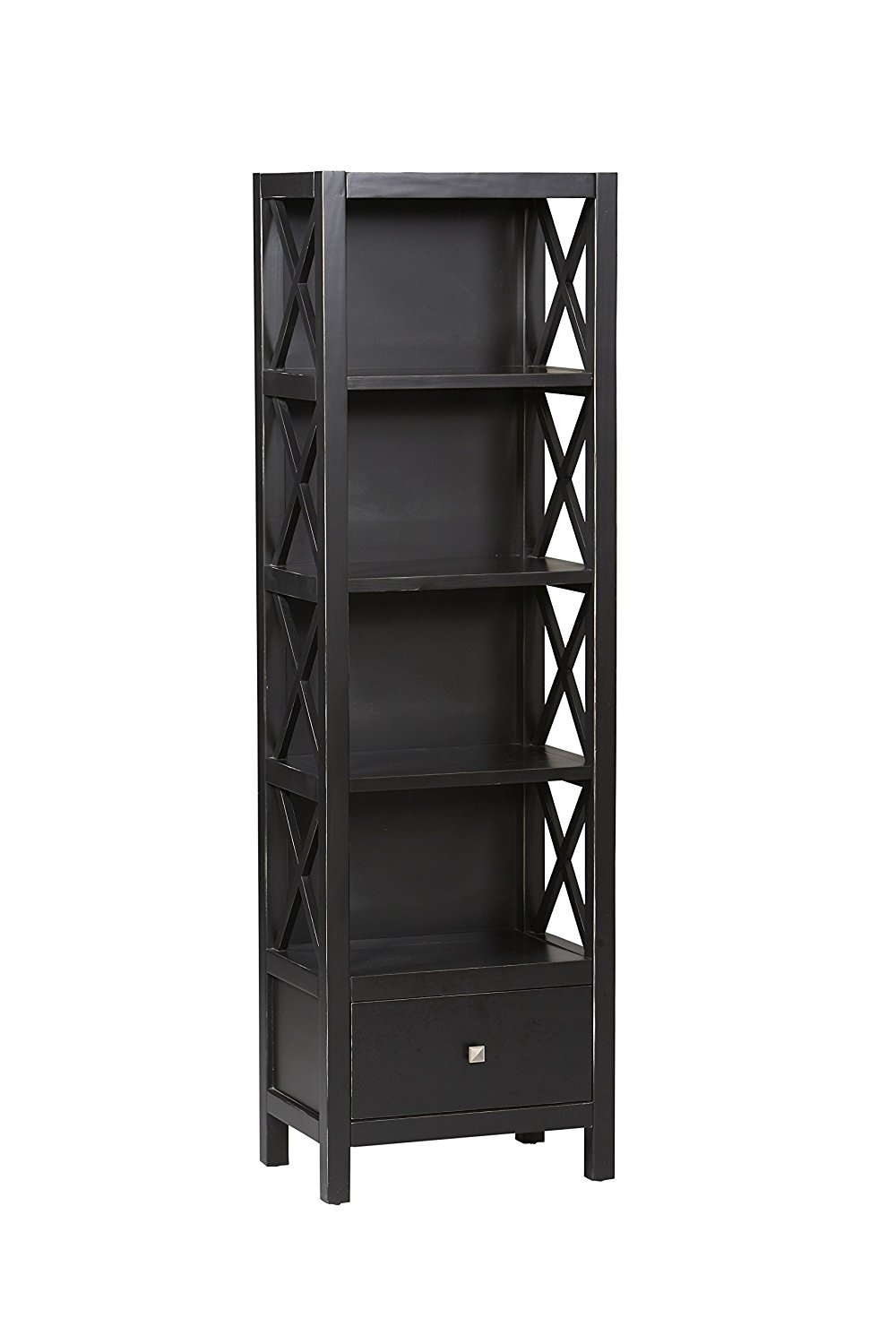 Tall Black Narrow Bookshelf