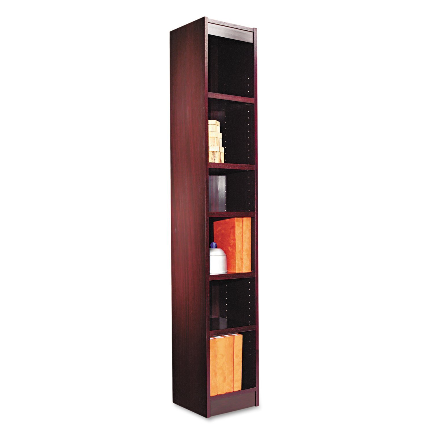 6 Shelf Narrow Bookcase